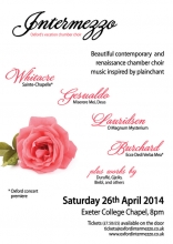 Intermezzo concert poster Easter 2014