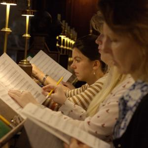 Rehearsing at University College chapel