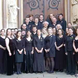 Outside Exeter chapel on concert day