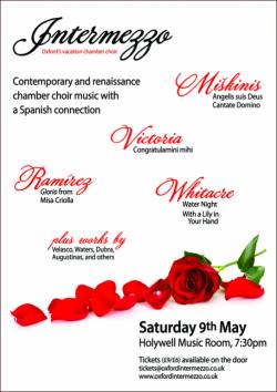 Intermezzo concert poster Easter 2015